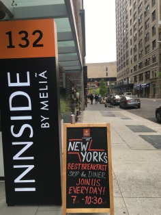 Our hotel in Chelsea! Innside has very modern and chic decor that is to die for.